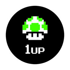 Geek Sticker 1Up