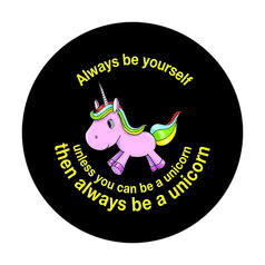 Geek Sticker Be a unicorn