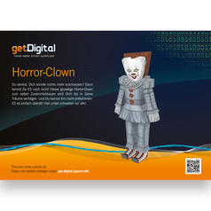 Papercraft Horror-Clown