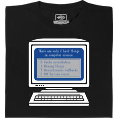 2 Hard Things in Computer Science T-Shirt
