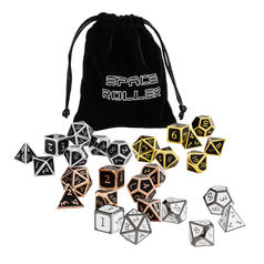 Meteor Dice - Set di 7 dadi poliedrici in metallo