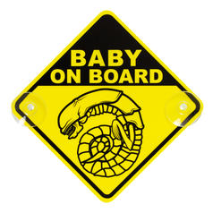 "Cartello per macchina ""Chestburster Alien Baby on Board"""