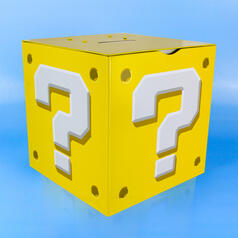 Nintendo Super Marion Question Block Money Box