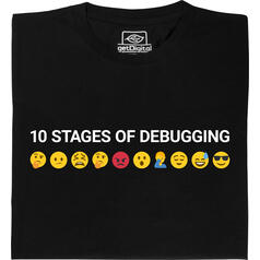 10 Stages of debugging (Le 10 fasi del debug) T-Shirt