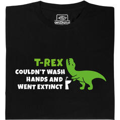T-Rex could not wash hands (Il T-Rex non poteva lavarsi le mani)  T-Shirt