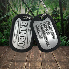 Rambo Dog Tags