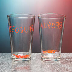 The Shining REDRUM Glass