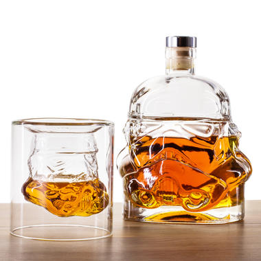 Bicchiere e decanter per whiskey Soldato imperiale